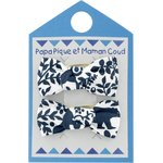 Small bows hair clips scandinave navy blue - PPMC