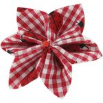 Star flower 4 hairslide ladybird gingham - PPMC