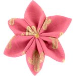 Star flower 4 hairslide gold cactus - PPMC