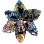 Pasador flor estrella dalhia rosa marino - PPMC