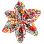 Star flower 4 hairslide peach flower - PPMC