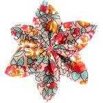 Barrette fleur étoile 4 floral pêche - PPMC