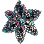 Star flower 4 hairslide green azure flower - PPMC
