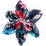 Star flower 4 hairslide silvery rose - PPMC