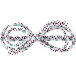 Arabesque bow hair slide neon shards - PPMC