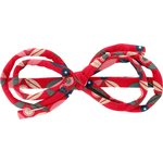 Arabesque bow hair slide paprika petal - PPMC