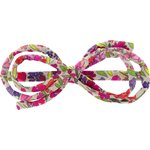 Barrette noeud arabesque prairie pourpre - PPMC