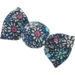 Pasador mini caramelo flor verde azul - PPMC