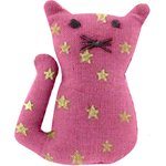 Small cat hair slide fuchsia gold star - PPMC