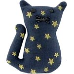 Small cat hair slide navy gold star - PPMC