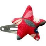 barrette clic-clac étoile pétale paprika - PPMC