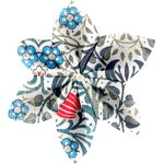 Barrette fleur étoile 4 azulejos - PPMC