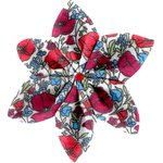 Barrette fleur étoile 4 coquelicot - PPMC