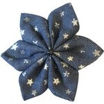 Star flower 4 hairslide silver star jeans - PPMC