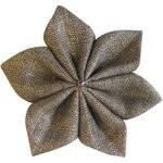 Star flower 4 hairslide gold linen - PPMC