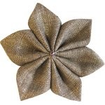 Star flower 4 hairslide copper linen - PPMC