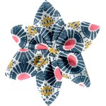 Star flower 4 hairslide ethnic sun - PPMC