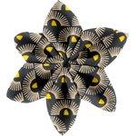Barrette fleur étoile 4 soleil inca - PPMC