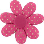 Fabrics flower hair clip fuchsia gold star - PPMC