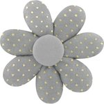 Fabrics flower hair clip etoile or gris - PPMC
