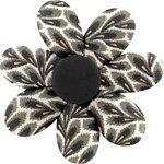 Pasador flor margarita  follaje - PPMC