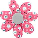 Barrette fleur marguerite small flowers pink blusher - PPMC