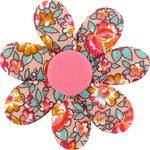 Barrette fleur marguerite floral pêche - PPMC
