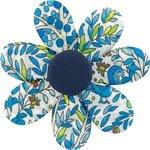 Pasador flor margarita  bosque azul - PPMC