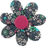 Barrette fleur marguerite milli fleurs vert azur - PPMC