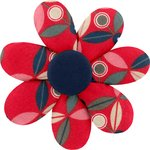 Fabrics flower hair clip paprika petal - PPMC