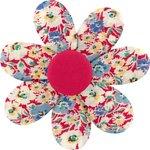 Barrette fleur marguerite oeillets jean - PPMC