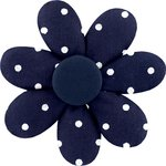 Fabrics flower hair clip navy blue spots - PPMC