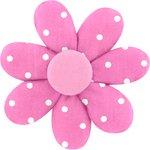 Barrette fleur marguerite pink spots - PPMC