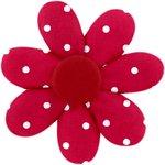 Barrette fleur marguerite pois rouge - PPMC