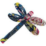 Dragonfly hair slide pink blue dalhia - PPMC