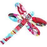 Dragonfly hair slide kokeshis - PPMC