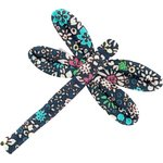 Dragonfly hair slide green azure flower - PPMC