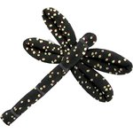 Dragonfly hair slide noir pailleté - PPMC