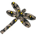 Barrette libellule soleil inca - PPMC
