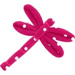 Dragonfly hair slide fuschia spots - PPMC