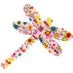 Dragonfly hair slide pink meadow - PPMC