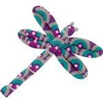 Barrette libellule provence violet turquoise - PPMC