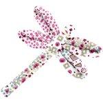 Barrette libellule rosace - PPMC