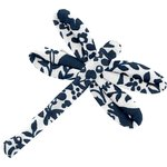 Dragonfly hair slide scandinave navy blue - PPMC