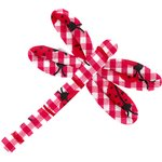 Dragonfly hair slide ladybird gingham - PPMC