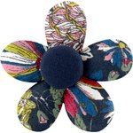 Mini flower hair slide pink blue dalhia - PPMC