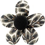Petite barrette mini-fleur feuillage - PPMC