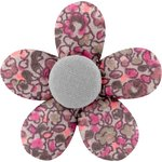 Mini flower hair slide plum lichen - PPMC