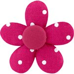 Mini flower hair slide fuschia spots - PPMC