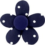 Mini flower hair slide navy blue spots - PPMC